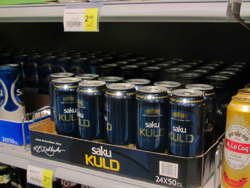 Saku õlu. Pruulitud Eestis.
