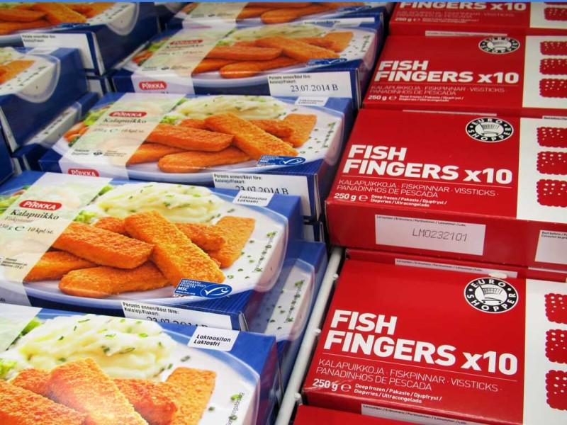 Paljassaare Kalatööstuse kalapulgad kahe kaubamärgi all.