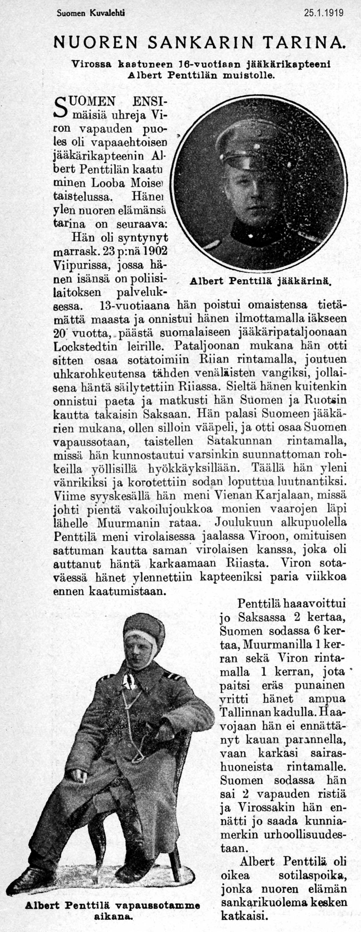 Suomen Kuvalehti 25.1.1919