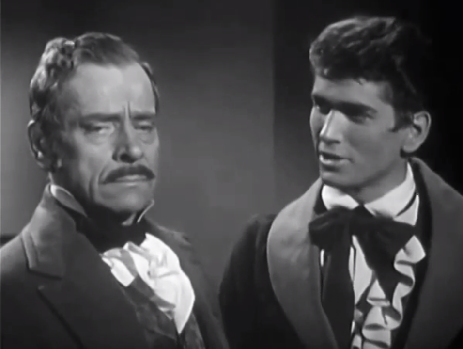Ivan Triesault as Maurice Toulouse and Michael Landon, The Adventures of Jim Bowie (1956)
