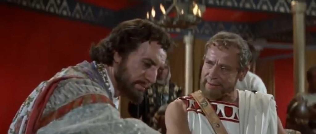 """Suurkuningas Xerxes ja võimult kõrvaldatud Sparta kuningas Demaratus, """"The 300 Spartans"""""""