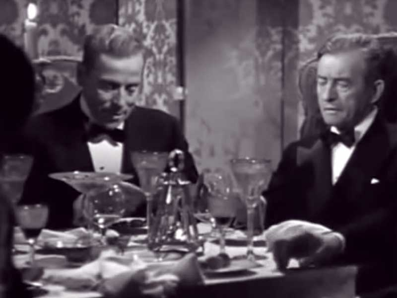 Ivan Triesault as Eric Mathis with Claude Rains, Notorious (1946)