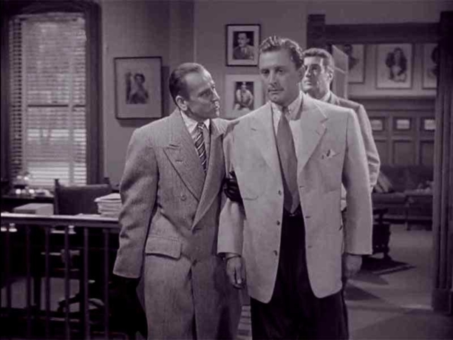 Ivan Triesault as Von Ellstein and Kirk Douglas, The Bad and the Beautiful (1952)