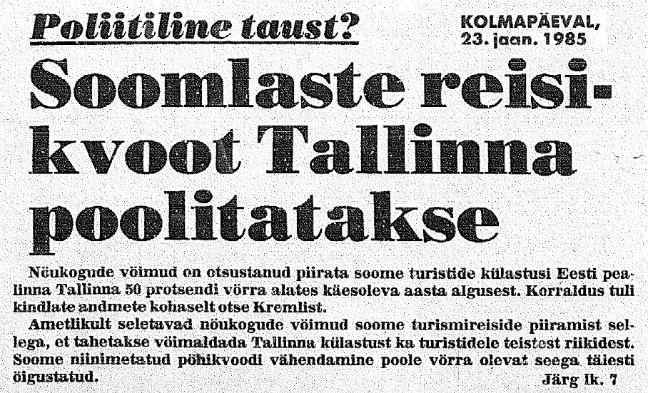 Eesti Päevaleht 23.01.1985