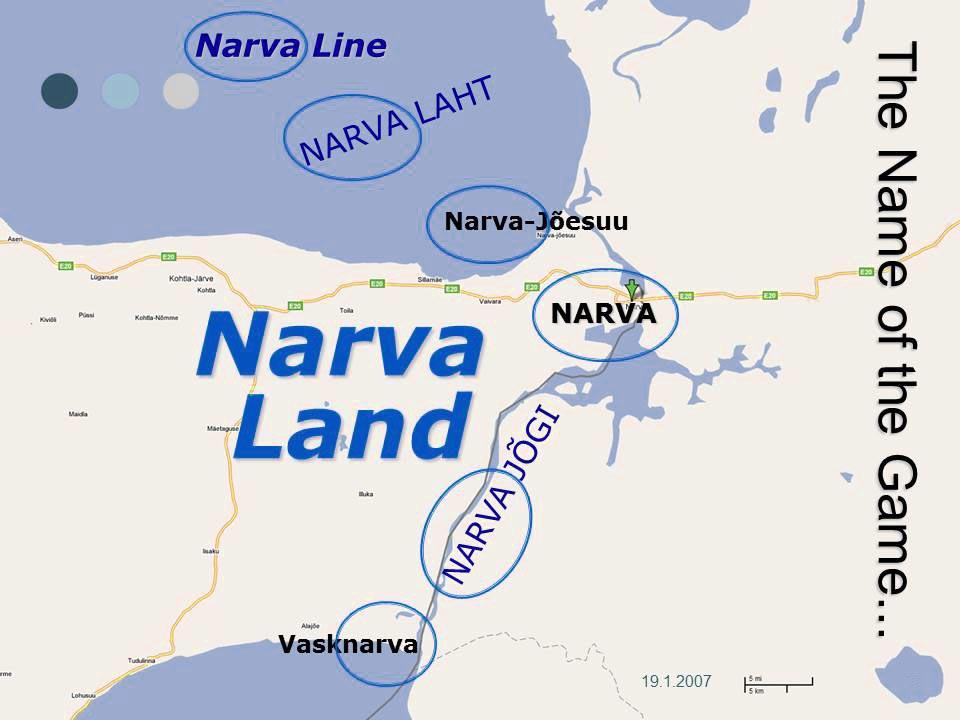 "Lehekülg slaidishow'st ""Narva Land 2020"", Pekka Linnainen 19.01.2007"