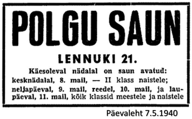 Polgu saun 1940