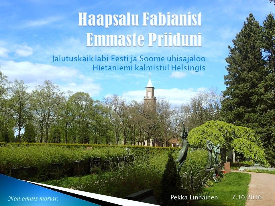 Soome - Eesti ajalugu Hietaniemi kalmistul