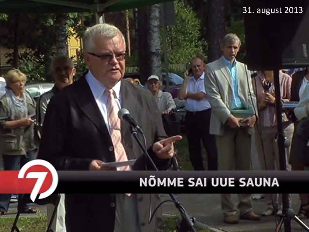 Edgar Savisaa Valdeku sauna avamisel 31.8.2013