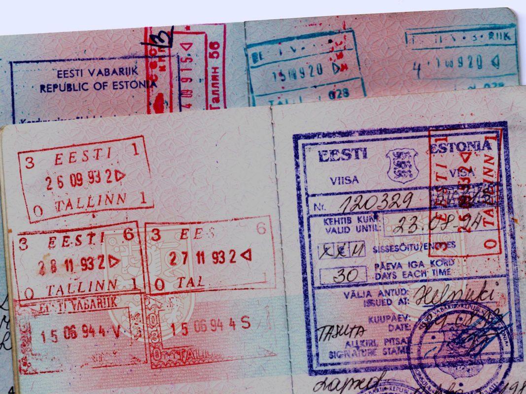 Eesti Vabariigi viisa Soome välispassis