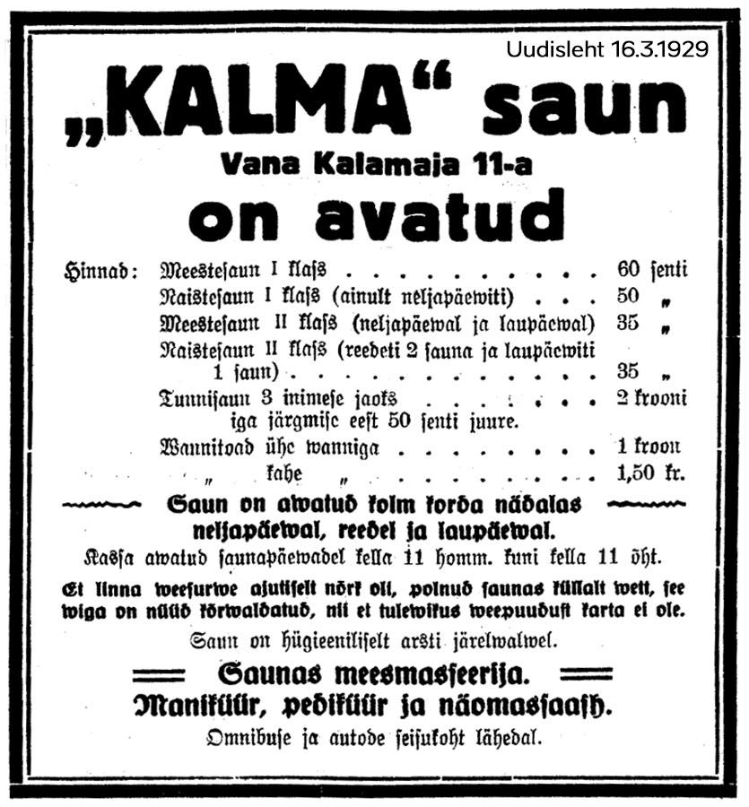 Kalma kuulutus 1929