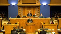 Pääministeri Taavi Rõivas parlamentissa 14.3.2016