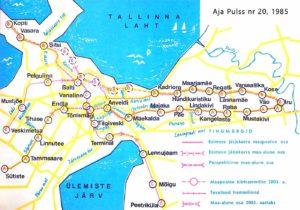 Tallinnan pikaraitioteiden suunnitelma 1983