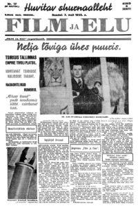 Sirkus Barcelona Film ja Elu -lehden etusivulla 1935