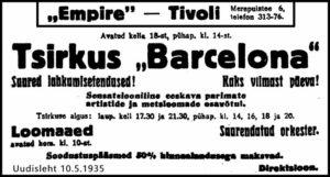 Sirkus Barcelona lähtee maaseudulle