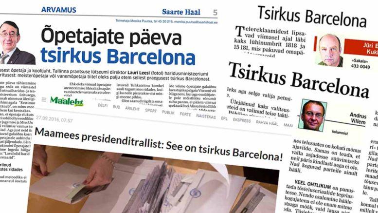 Sirkus Barcelona mielipidekirjoituksissa
