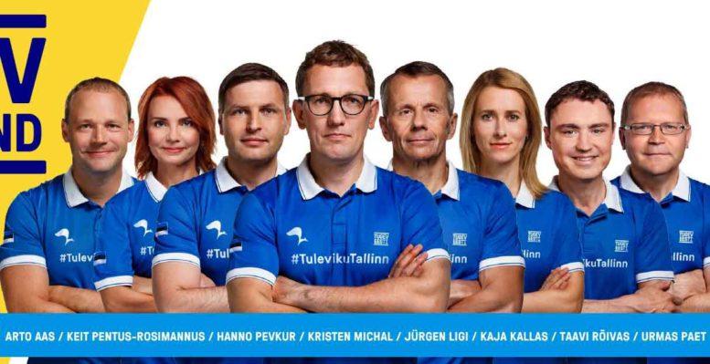 Reformipuolueen pääehdokkaat Tallinnan kuntavaaleissa 2017