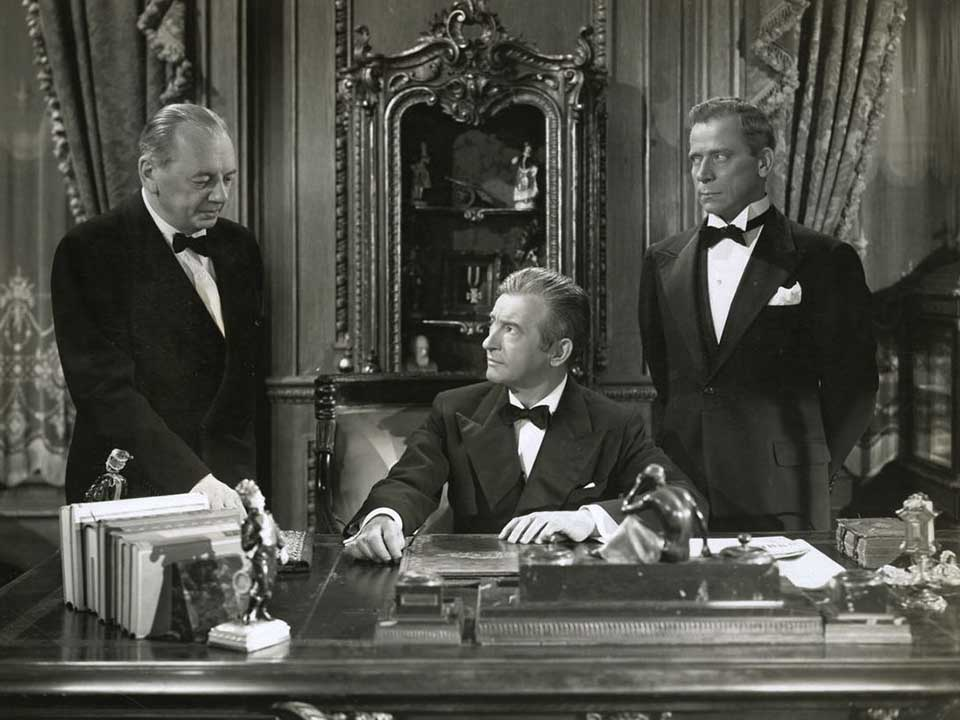 Ivan Triesault, Claude Rains and Reinhold Schünzel, Notorious (1946)