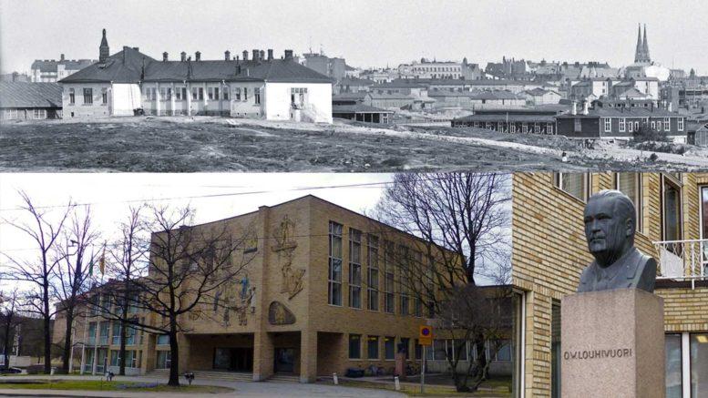 Koleraparakit Kauppakorkeakoulun tontilla, Signe Brander 1908
