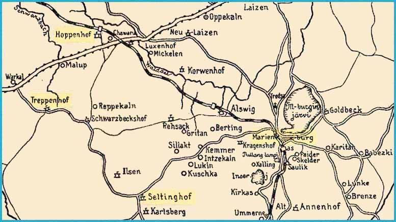 Marienburg–Seltinghof–Treppenhof 25.2.1919