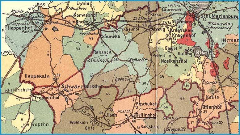 Marienburg–Seltinghof–Ilsen–Schwarzbeckshof 1904