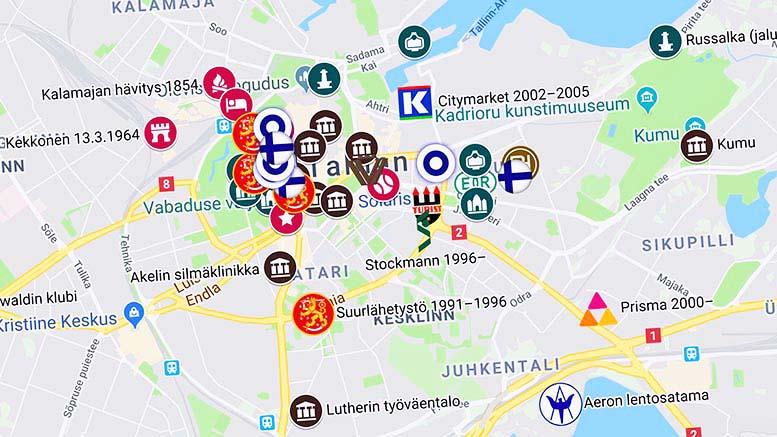 Sinivalkoinen Tallinna Soome Kultuurirajad Tallinnas Estofennia