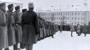 Eskolan komppanian paraati Tallinnassa 30.12.1918