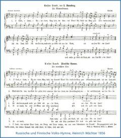 Saksankielinen Maamme-laulu mies- ja sekakuoroille, Heinrich Wächter 1856