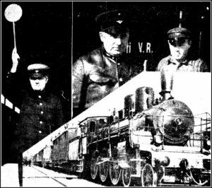 Balti Ekspress lähdössä ensi kerran Tallinnasta kohti Berliiniä ja Varsovaa. – Päewaleht 16.5.1935