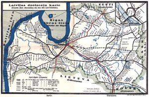 Latvian rataverkko 1933