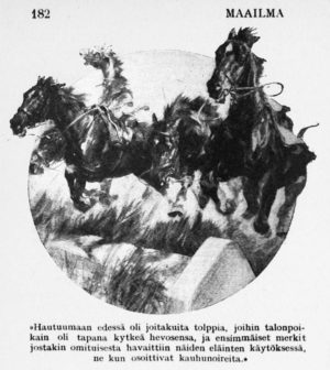 Saarenmaalaisia hevosia,, Maailma, helmikuu 1923