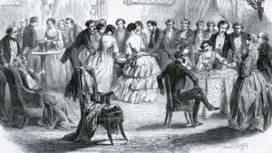 Spritualistien salonkitapaaminen Pariisissa toukokuussa 1853