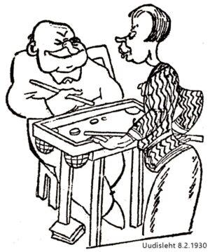 Korona-pilakuva, Uudisleht 8.2.1930