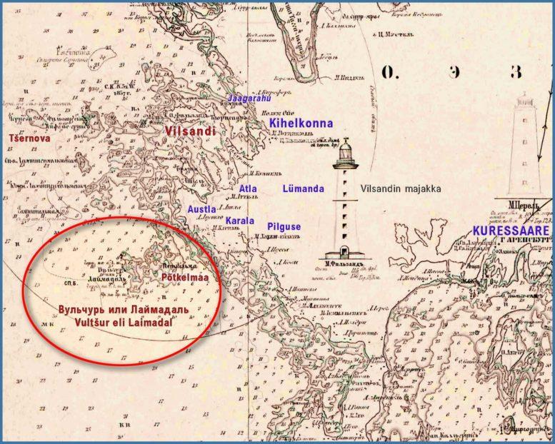 Vilsandin matalikot 1862