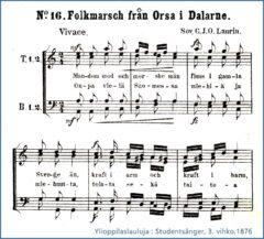 Onpa vielä Suomessa, Ylioppilaslauluja 1876
