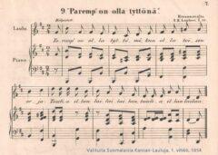 Paremp' on olla tyttönä kokoelmassa Valituita Suomalaisia Kansan-Lauluja, Karl Collan 1854