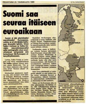 Viro luopuu Moskovan ajasta 26. maaliskuuta 1989