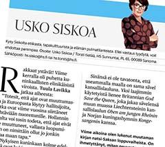 Usko Siskoa: Miksi Suomella ja Virolla on sama kansallislaulu? Helsingin Sanomat 2.12.2018