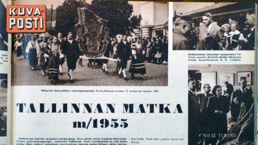Tallinnan matka m/1955, Kuva-Posti 11.8.1955