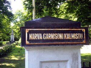 Narva Garnisoni kalmistu, sotilashautausmaan nykynimi portissa 21.7.2015